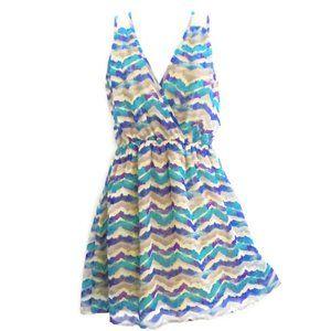 B Jewel Dress Mini Peekaboo Cutout Back Lace M